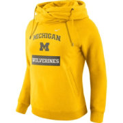 Nike Women's Michigan Wolverines Maize Tailgate Funnel Hoodie