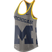 Nike Women's Michigan Wolverines Grey Dri-Blend Gear Up Racerback Tank
