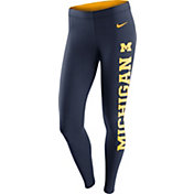 Nike Women's Michigan Wolverines Blue Tailgate Leg-A-See Tights