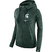 Nike Women's Michigan State Spartans Green Vintage Full-Zip Hoodie