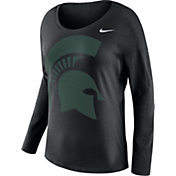Nike Women's Michigan State Spartans Tailgate Black Long Sleeve Shirt