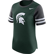 Nike Women's Michigan State Spartans Green Gear Up Modern Fan T-Shirt