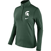 Nike Women's Michigan State Spartans Green Tailgate Dry Quarter-Zip Shirt