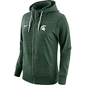 Nike Women's Michigan State Spartans Heathered Green Tailgate Gym Vintage Full-Zip Hoodie