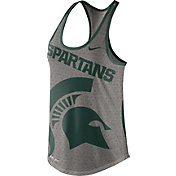 Nike Women's Michigan State Spartans Grey Dri-Blend Gear Up Racerback Tank
