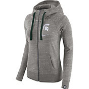 Nike Women's Michigan State Spartans Grey Vintage Full-Zip Hoodie
