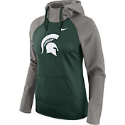 Nike Women's Michigan State Spartans Grey/Green Tailgate All Time Performance Hoodie
