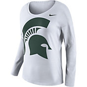 Nike Women's Michigan State Spartans Tailgate White Long Sleeve Shirt