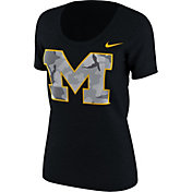 Nike Women's Michigan Wolverines Black Project Fresh Camo Pack T-Shirt