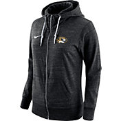 Nike Women's Missouri Tigers Tailgate Gym Vintage Heathered Black Full-Zip Hoodie