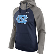 Nike Women's North Carolina Tar Heels Grey/Navy Tailgate All Time Performance Hoodie