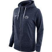 Nike Women's Penn State Nittany Lions Heathered Blue Tailgate Gym Vintage Full-Zip Hoodie
