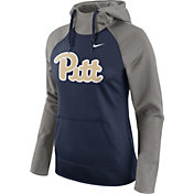 Nike Women's Pitt Panthers Grey/Blue Tailgate All Time Performance Hoodie