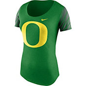 Nike Women's Oregon Ducks Heathered Apple Green Tri-Blend First String Scoop T-Shirt
