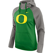 Nike Women's Oregon Ducks Grey/Apple Green Tailgate All Time Performance Hoodie