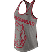 Nike Women's Arkansas Razorbacks Grey Dri-Blend Gear Up Racerback Tank