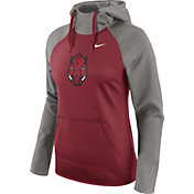 Nike Women's Arkansas Razorbacks Grey/Cardinal Tailgate All Time Performance Hoodie