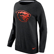 Nike Women's Oregon State Beavers Champ Drive Boyfriend Crew Black Sweatshirt