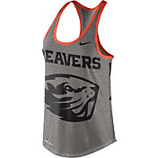Nike Women's Oregon State Beavers Grey Dri-Blend Gear Up Racerback Tank