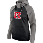 Nike Women's Rutgers Scarlet Knights Tailgate Grey/Black All Time Performance Hoodie