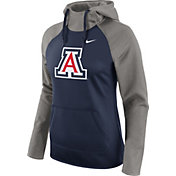 Nike Women's Arizona Wildcats Grey/Navy Tailgate All Time Performance Hoodie
