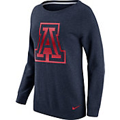 Nike Women's Arizona Wildcats Navy Champ Drive Boyfriend Crew Sweatshirt