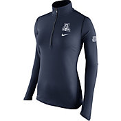 Nike Women's Arizona Wildcats Navy Tailgate Element Half-Zip Shirt