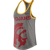 Nike Women's USC Trojans Grey Dri-Blend Gear Up Racerback Tank