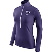 Nike Women's TCU Horned Frogs Purple Pro Hyperwarm Half-Zip Shirt