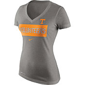 Nike Women's Tennessee Volunteers Gray Dri-Blend Tailgate V-Neck T-Shirt