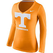 Nike Women's Tennessee Volunteers Tennessee Orange Mid-V Logo Long Sleeve Shirt