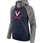 Nike Women's Virginia Cavaliers Grey/Blue Tailgate All Time Performance Hoodie