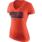 Nike Women's Virginia Cavaliers Orange Dri-Blend Tailgate V-Neck T-Shirt