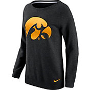Nike Women's Iowa Hawkeyes Champ Drive Boyfriend Crew Black Sweatshirt