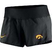 Nike Women's Iowa Hawkeyes Black Gear Up Crew Performance Shorts