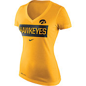 Nike Women's Iowa Hawkeyes Gold Dri-Blend Tailgate V-Neck T-Shirt