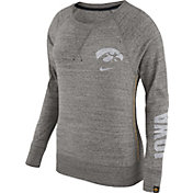 Nike Women's Iowa Hawkeyes Grey Vintage Crew Sweatshirt