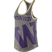 Nike Women's Washington Huskies Grey Dri-Blend Gear Up Racerback Tank