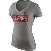 Nike Women's Washington State Cougars Grey Dri-Blend Tailgate V-Neck T-Shirt