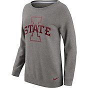 Nike Women's Iowa State Cyclones Grey Champ Drive Boyfriend Crew Sweatshirt