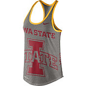 Nike Women's Iowa State Cyclones Grey Dri-Blend Gear Up Racerback Tank