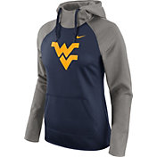 Nike Women's West Virginia Mountaineers Grey/Blue Tailgate All Time Performance Hoodie