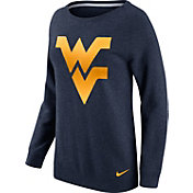 Nike Women's West Virginia Mountaineers Blue Champ Drive Boyfriend Crew Sweatshirt