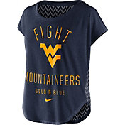 Nike Women's West Virginia Mountaineers Blue Gameday Signal Tri-Blend T-Shirt