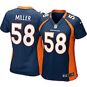 Nike Women's Alternate Game Jersey Denver Broncos Von Miller #58