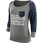 Nike Women's San Diego Chargers Tailgate Vintage Crew Grey Long Sleeve Shirt