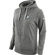 Nike Women's Philadelphia Eagles Tailgate Vintage Grey Full-Zip Hoodie