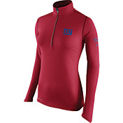 Nike Women's New York Giants Tailgate Element Quarter-Zip Red Pullover