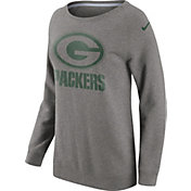 Nike Women's Green Bay Packers Championship Drive 2016 Grey BF Crew Sweatshirt