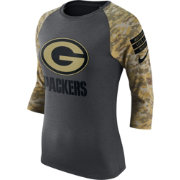 Nike Women's Green Bay Packers Salute to Service 2016 Anthracite Raglan T-Shirt